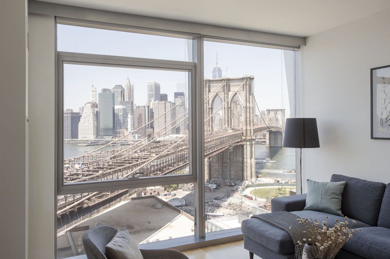 Though the views are different in each unit, the fact that the 60 Water is a mere 85 feet from the Brooklyn Bridge is definitely a plus.