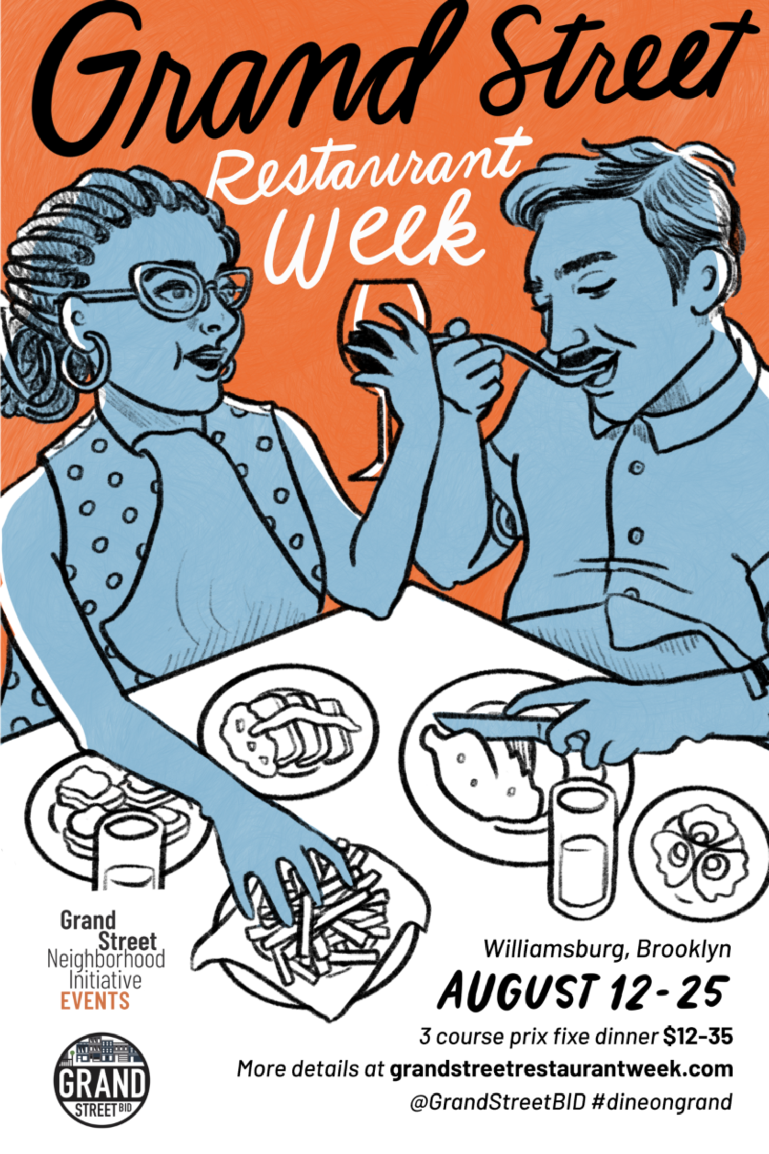Grand Street Restaurant Week, Winter 2019, Feb 18th — March 3rd