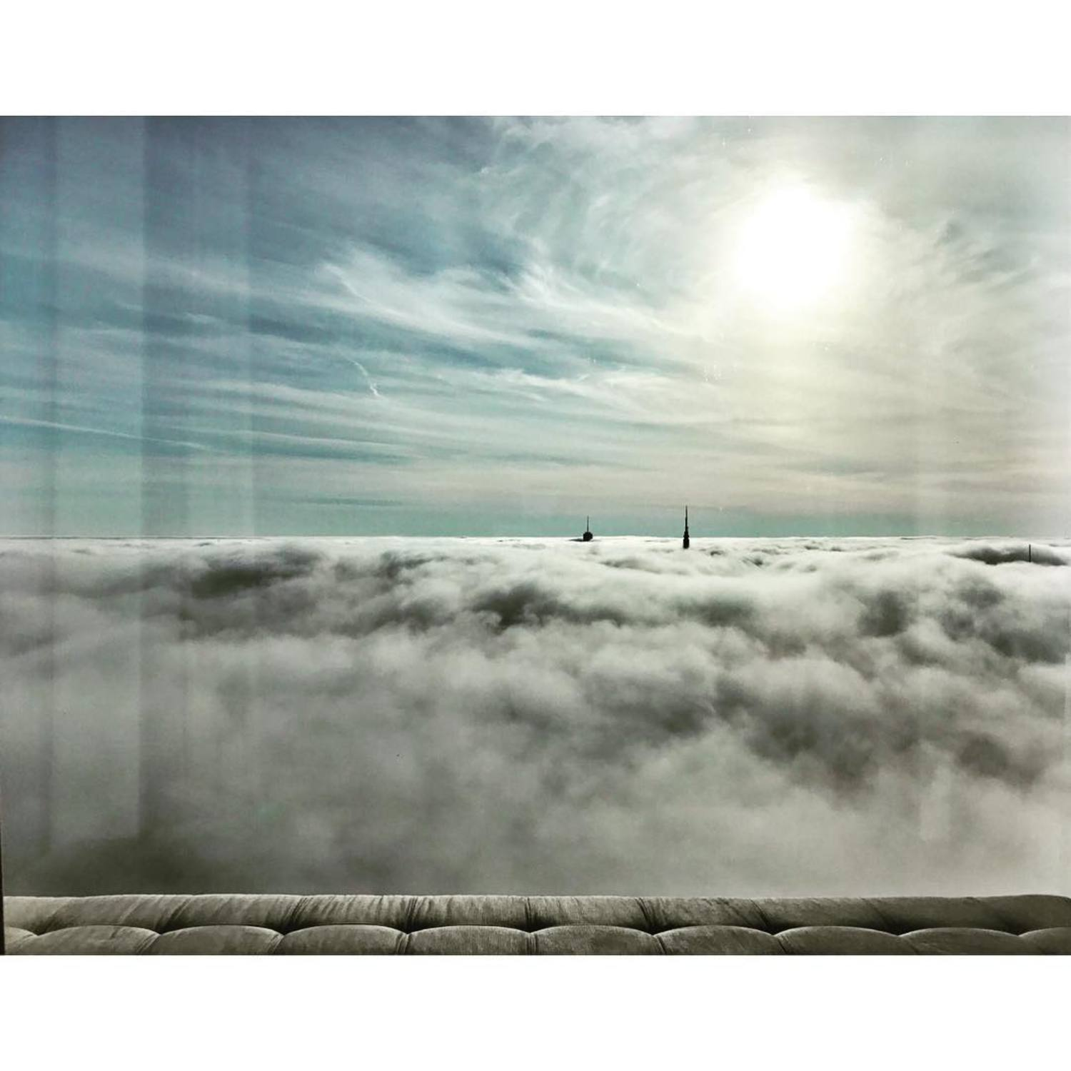 where am I? just looks like heaven...but it's actually the view from my latest project, with the Empire State Building and World Trade Center peeking thru the clouds....check out the full story up on archdigest.com link in bio  #rafaelvinoly #empirestatebuilding #worldtradecenter #feelslikeheaven