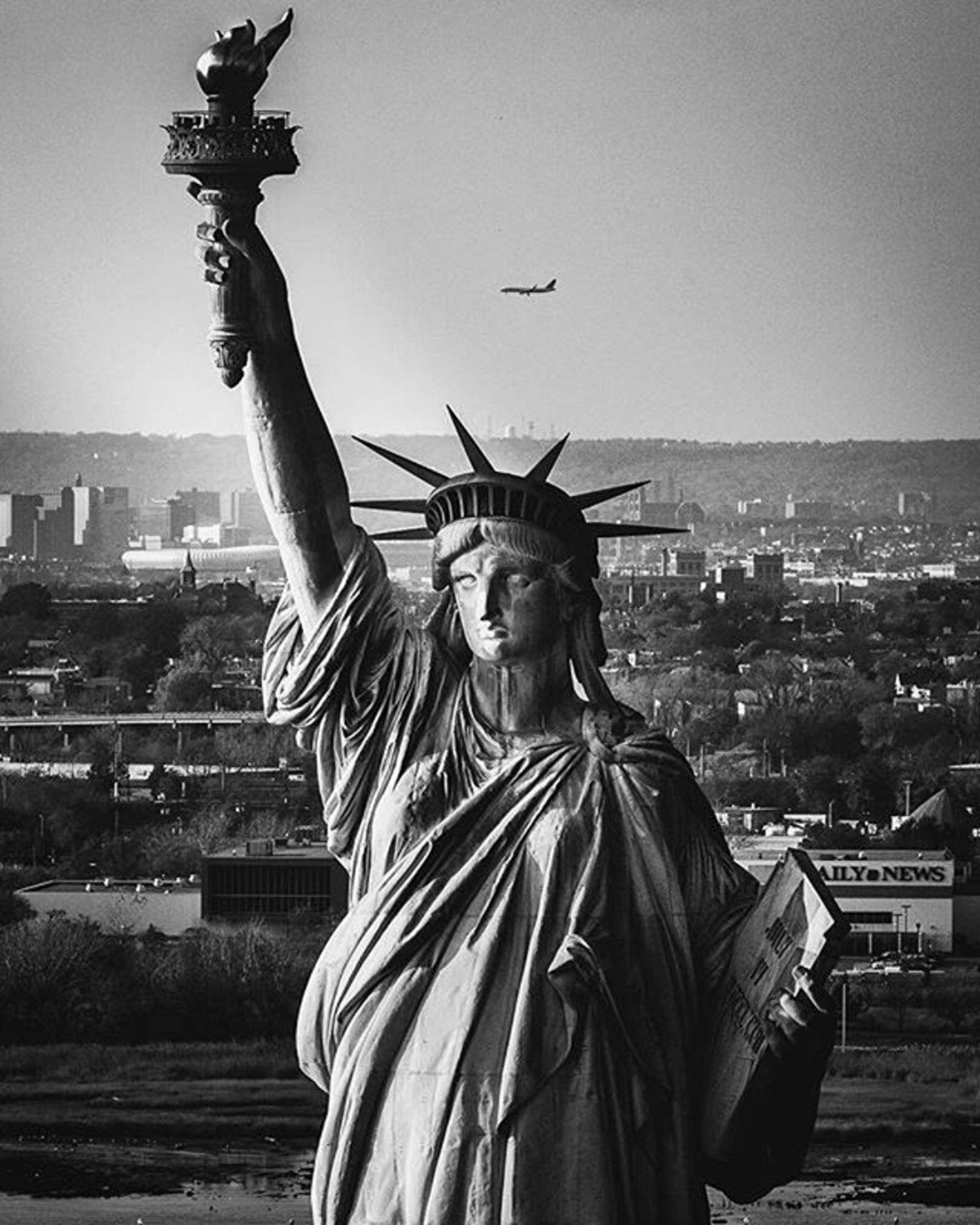 Lady Liberty. Photo via @beholdingeye  #viewingnyc