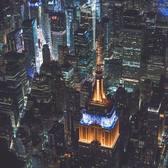 Empire State Building, New York, New York. Photo via @flynyon #viewingnyc #nyc #newyork #newyorkcity #empirestatebuilding