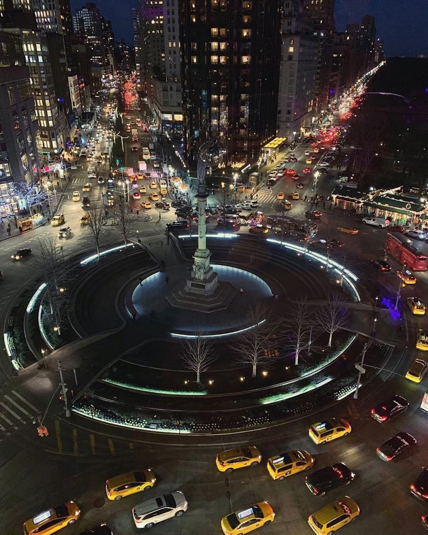 Columbus Circle, New York. Photo via @iwyndt #viewingnyc #nyc #newyork #newyorkcity