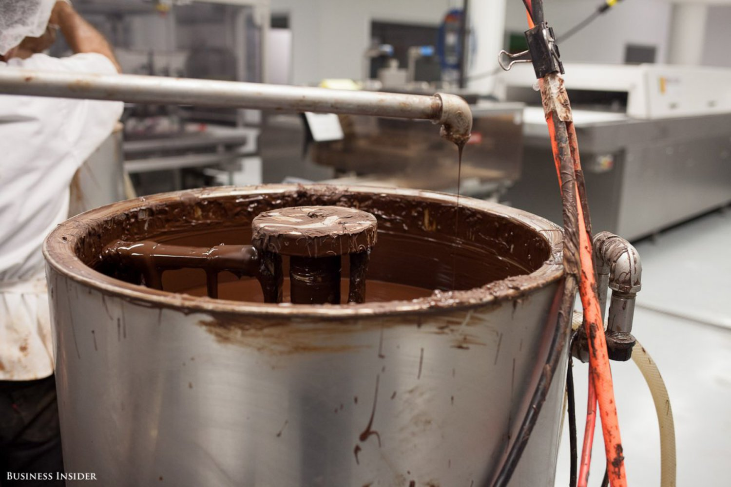 """We love this space. It's changed our life,"" Torres told Business Insider. ""It's a nice way to work. This building has a soul."" Here's the chocolate mixer in action."