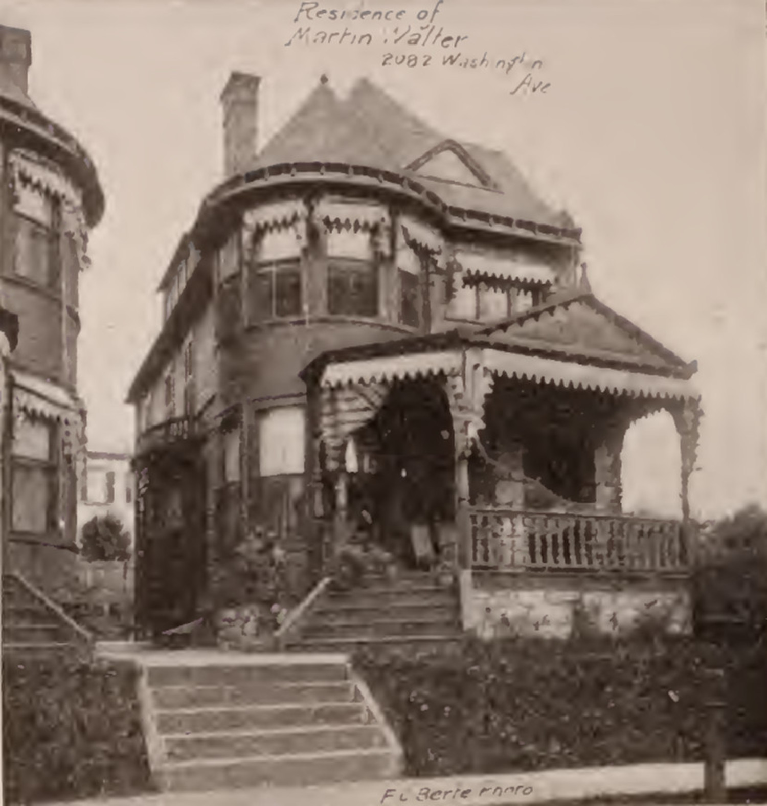 Martin Walter residence 2082 Washington Avenue Bronx 1897