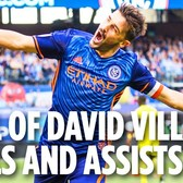 All of David Villa's Goals and Assists in 2017