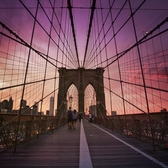 Sunset Over Brooklyn Bridge, 2015