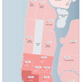 Median 1-Bedroom Rent Prices Per Manhattan Neighborhood