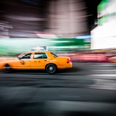 New York Taxi Cab at Night