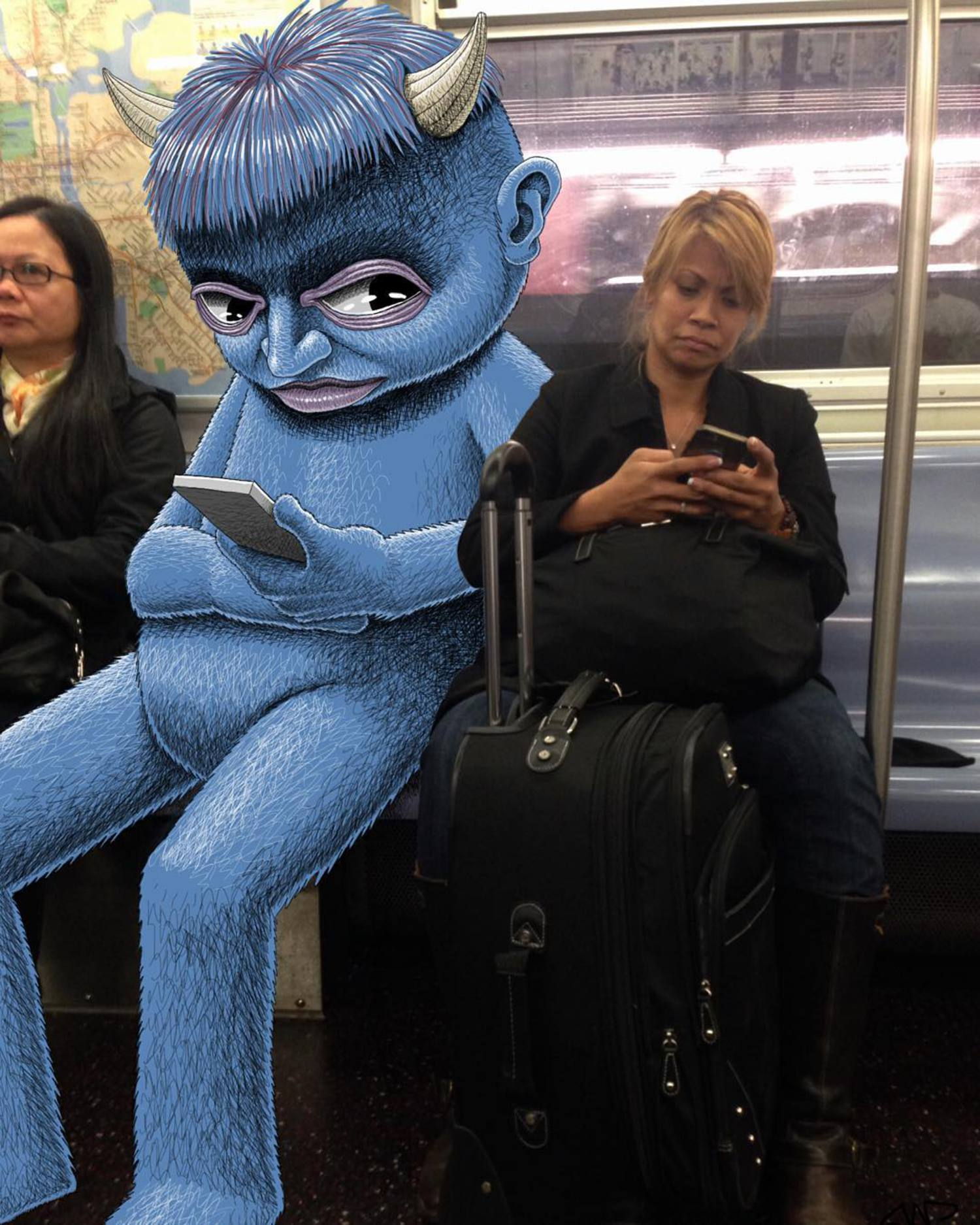 #subwaydoodle #subway #doodle #swd #nyc #peeping