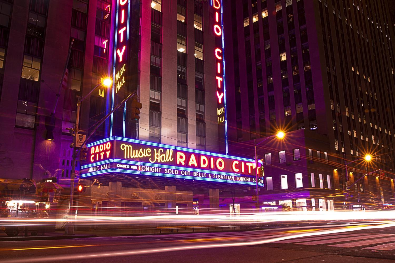 Neon Lights on Radio City Music Hall