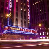 Neon Lights on Radio City Music Hall