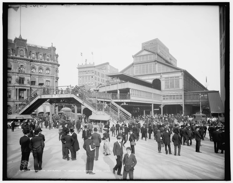 Brooklyn Bridge, Manhattan Terminal, 1905