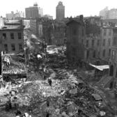 Crash site of the DC-8 airplane that carved a swathe of destruction through Park Slope and killed 90 people, including 6 on the ground (16 Dec 1960)