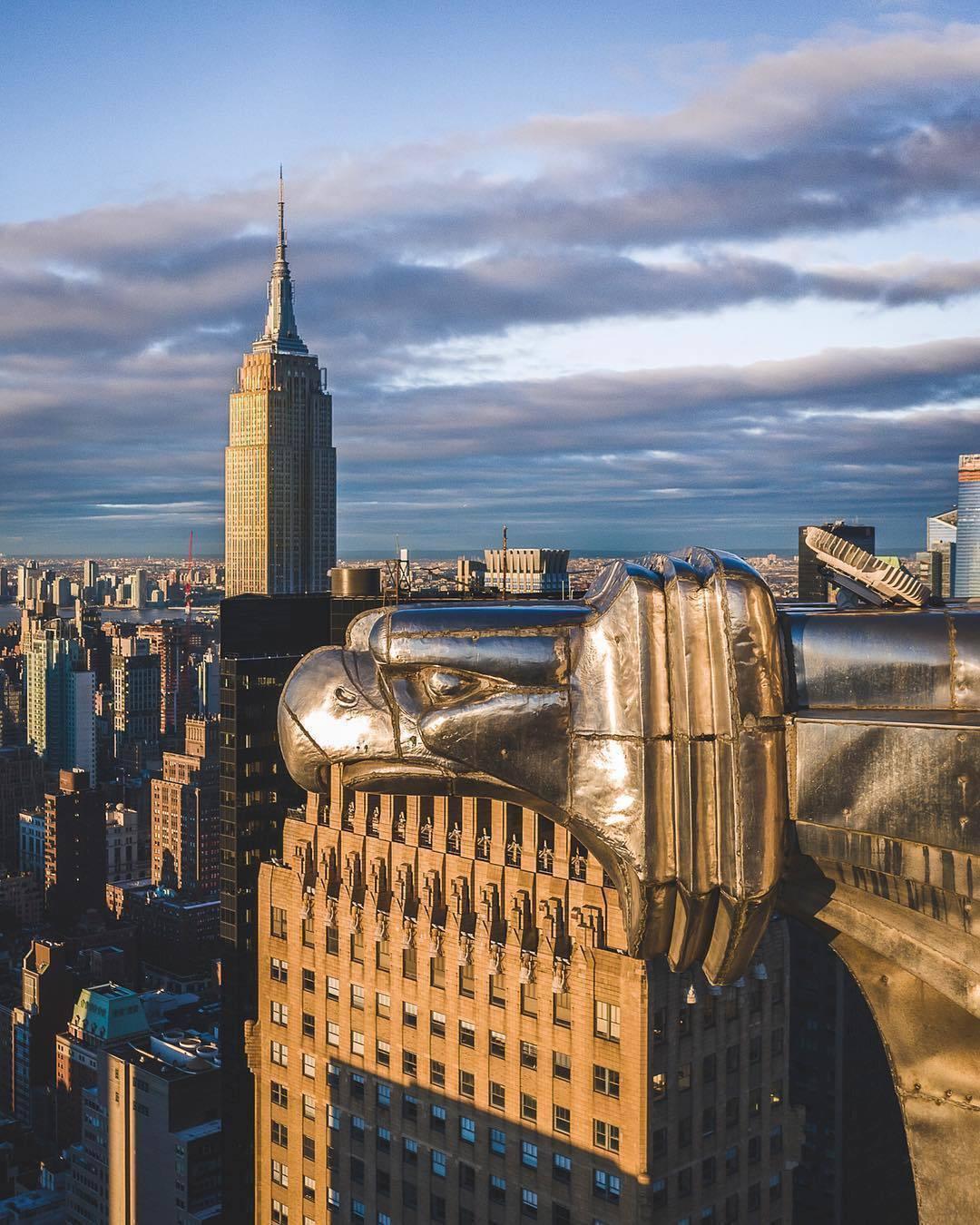 Chrysler Building Gargoyle, Manhattan. 📸 @nyc.lens