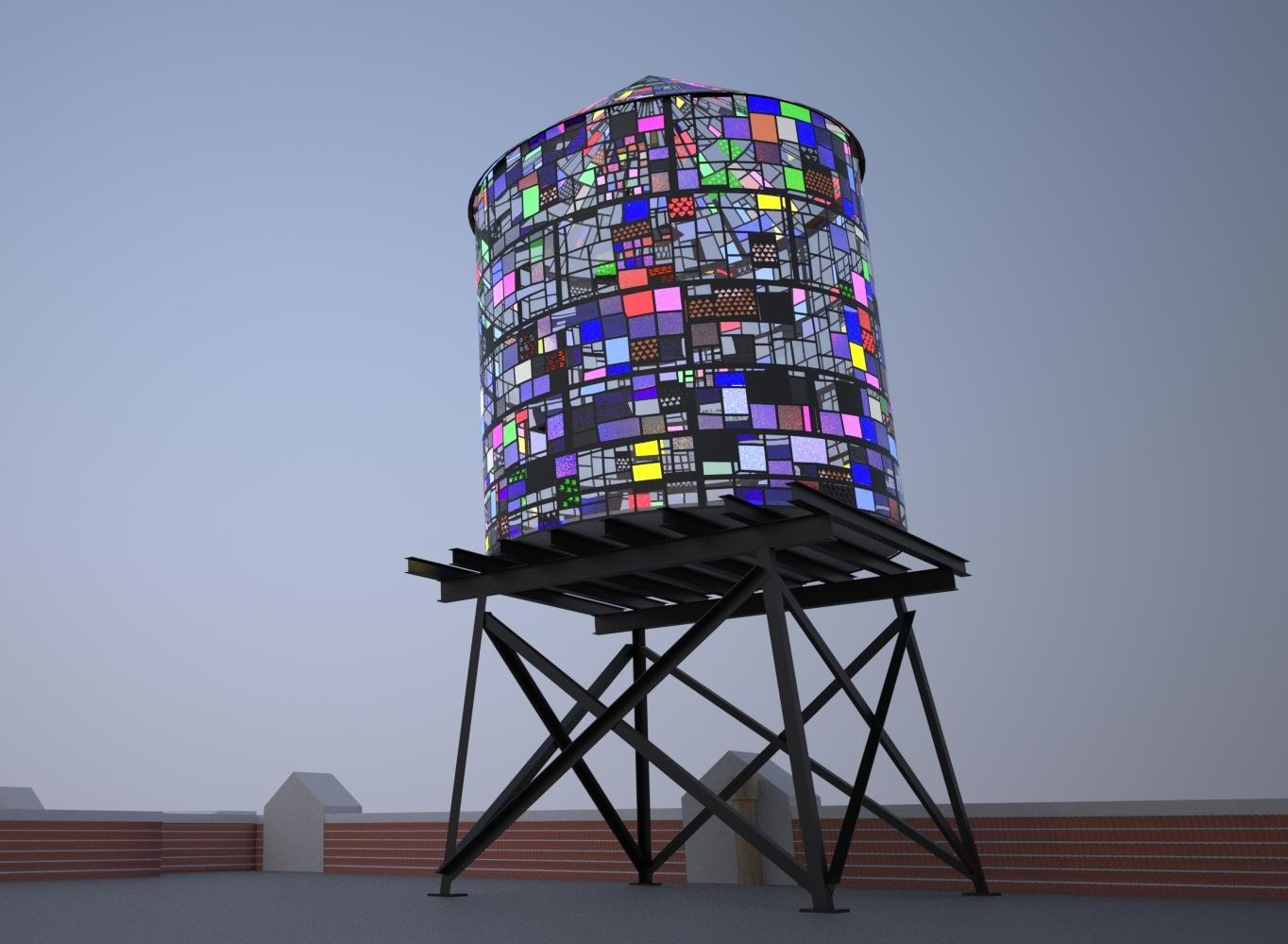 Another Stained Glass Water Tower Installed In Brooklyn