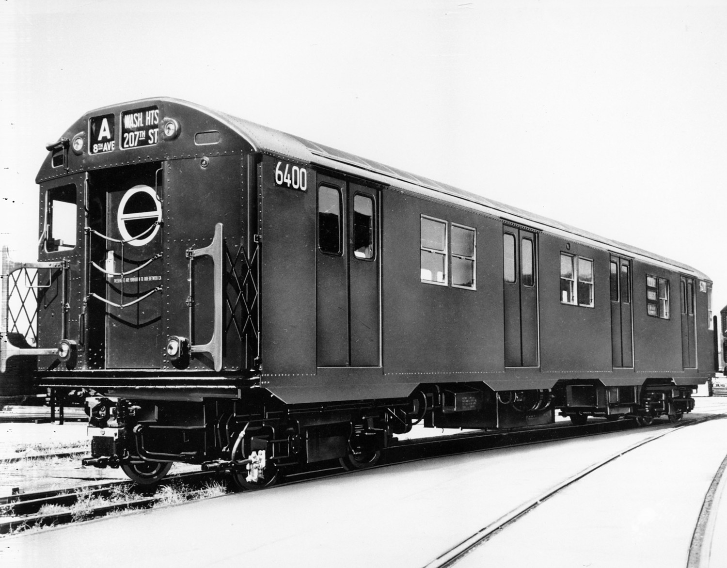 "This is an undated photo of a New York City subway car, the ""A"" train."