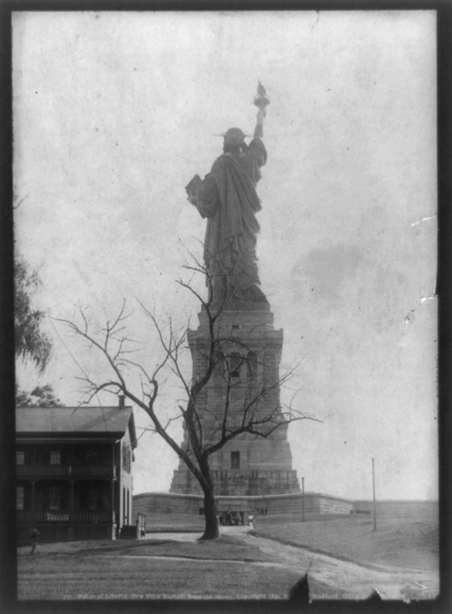 Statue of Liberty, New York Harbor, from the North, ca. 1891.