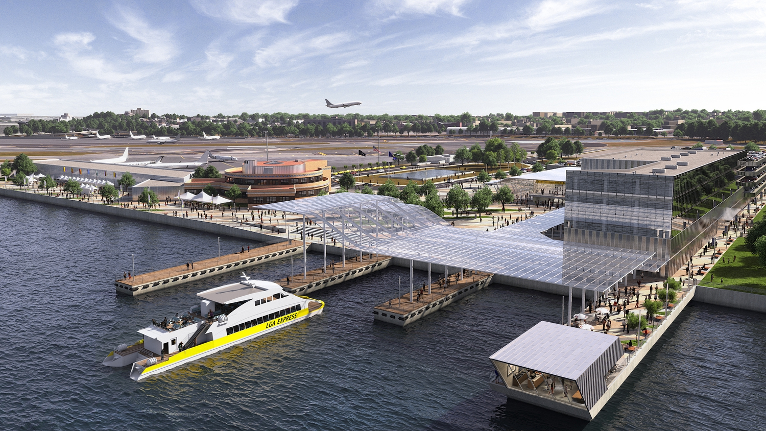 LaGuardia Renderings | Marine Air Terminal Site