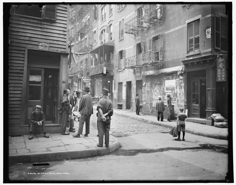 Doyers Street and Pell Street, Chinatown, New York, New York ca. 1900