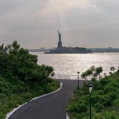 Statue of Liberty from The Hills on Governor's Island