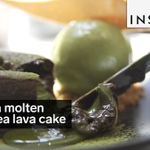 Drown your taste buds in this molten green tea lava cake