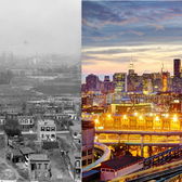 Long Island City and Queensboro Bridge approximately 100 years apart