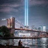 9/11 Tribute in Lights over Manhattan