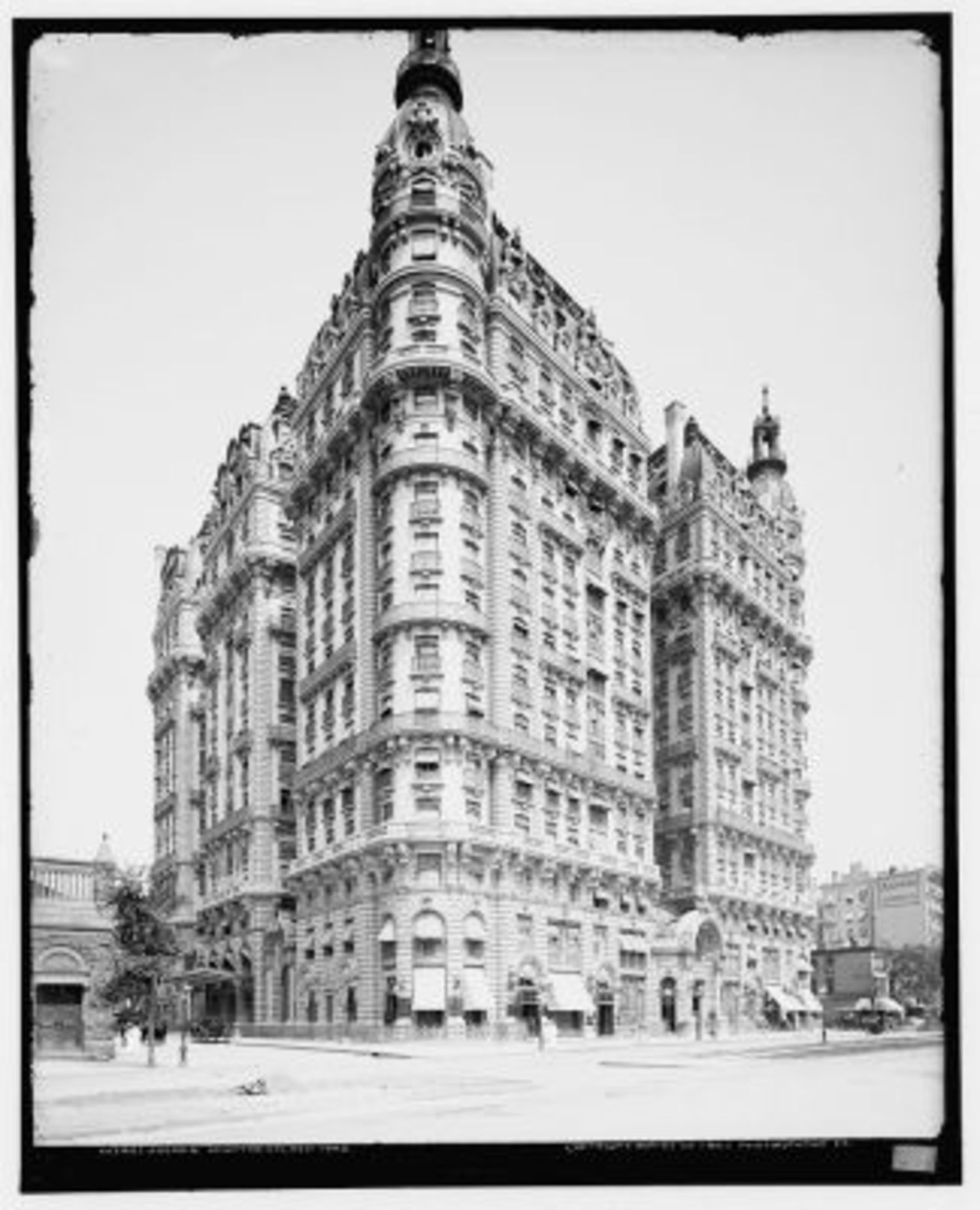 "Ansonia Hotel: The Ansonia Hotel, which opened on Broadway between 73rd and 74th streets in 1904, has been described by the Landmarks Preservation Commission as a ""symbol of an era of opulence and elegance."" Built to serve as an apartment hotel, the building had over 300 suites and over 1,200 rooms; pneumatic tubes delivered messages throughout the 550,000 square feet of space. At one point, the building was home to the world's largest indoor pool. Today the Ansonia offers apartments for rent or sale."