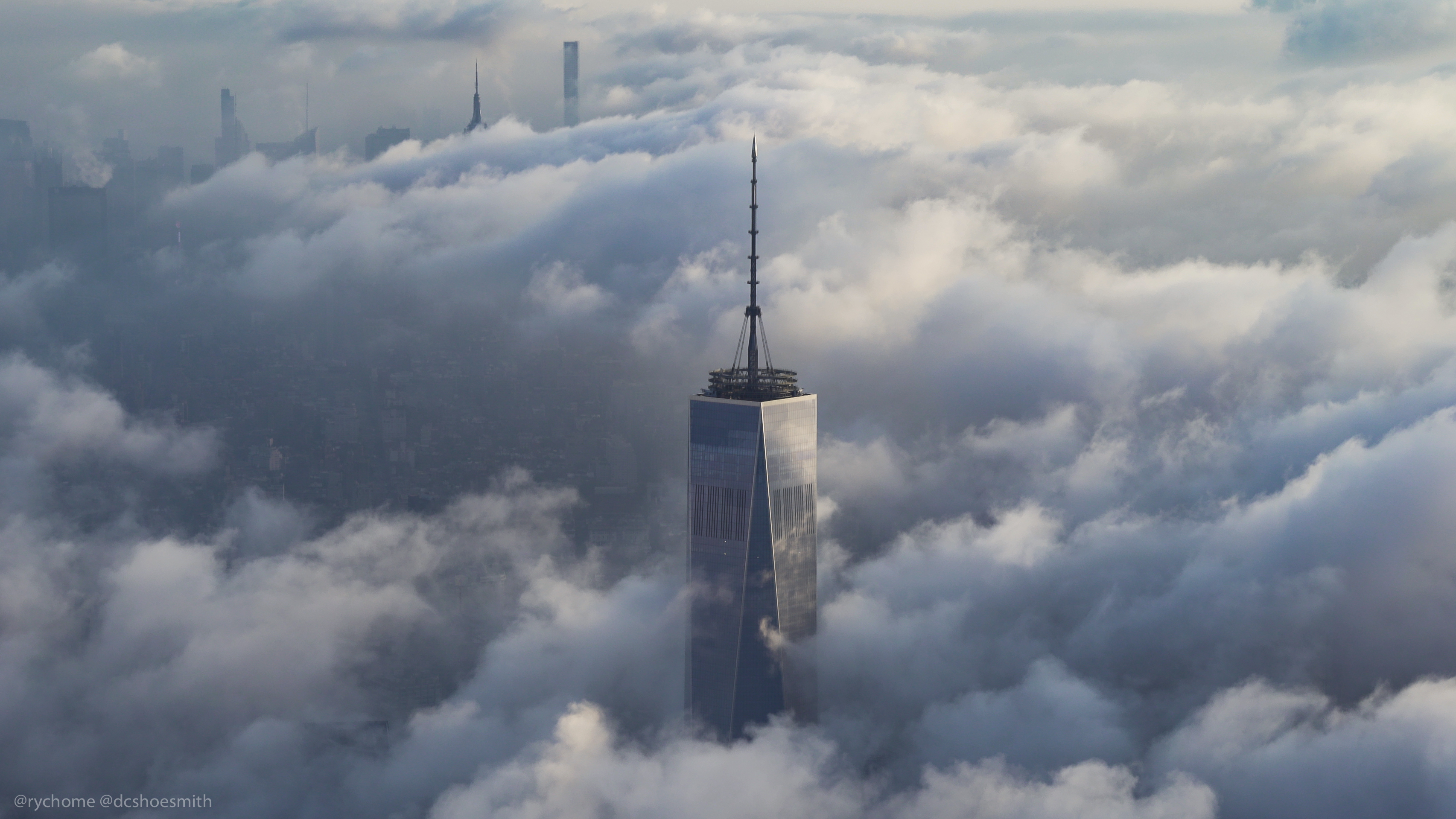 Amazing Aerial Photograph Of One World Trade Center