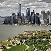 Governors Island and Lower Manhattan, New York, New York.