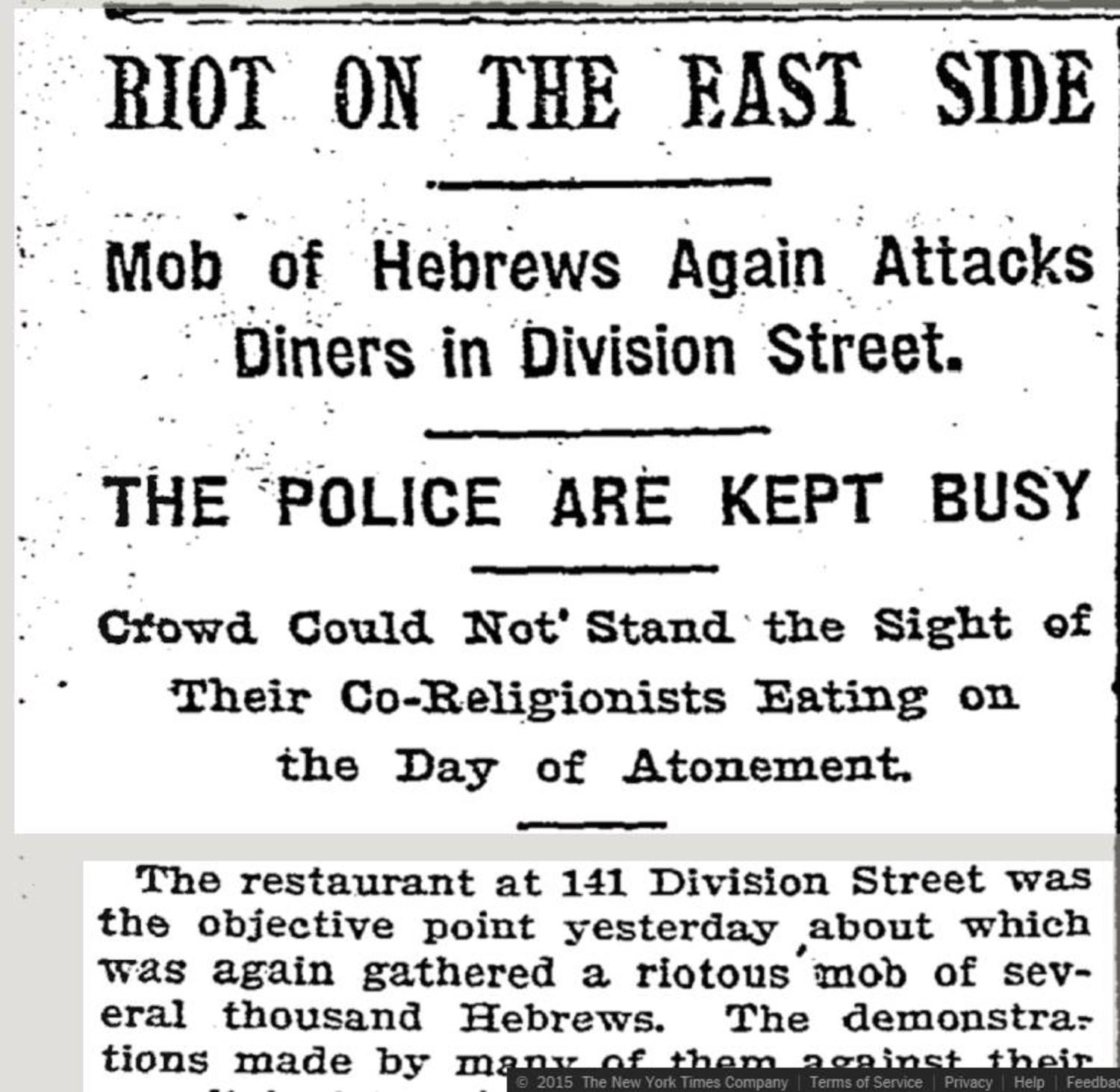 New York Times Report on Riots