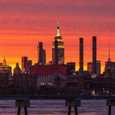 Sunset Over Manhattan from Williamsburg, Brooklyn