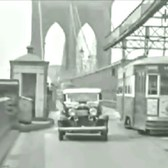 Brooklyn Bridge Trolley 1930's