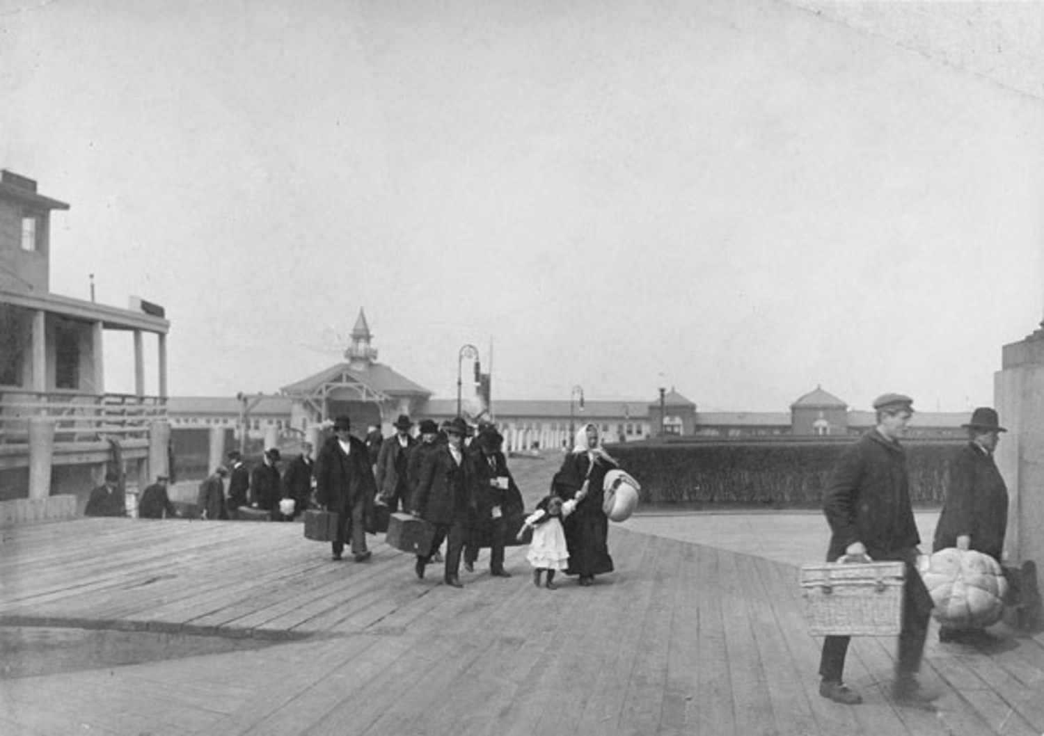Immigrants Landing on Ellis Island (circa 1900)