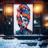 """Audrey Hepburn"", Tristan Eaton, Broome Street and Mulberry Street, Little Italy, Manhattan"