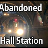 ⁴ᴷ 4 and 6 Trains passing the Abandoned 1904 City Hall Subway Station