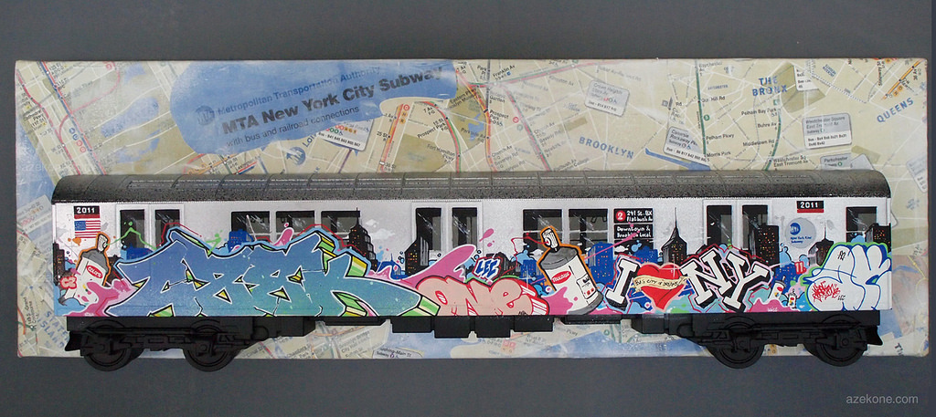 Subway Car Graffiti Bombed Like 1980s Citi Bike Adds New