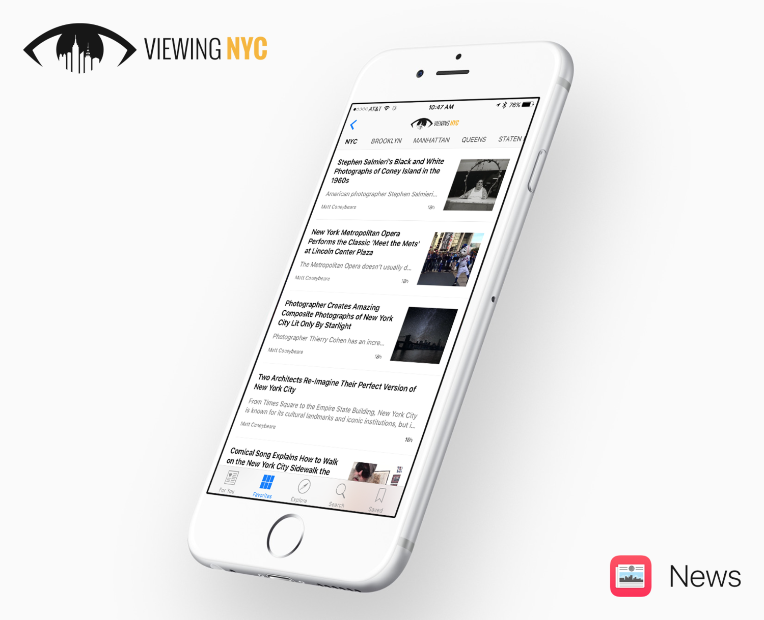 Viewing NYC on Apple News