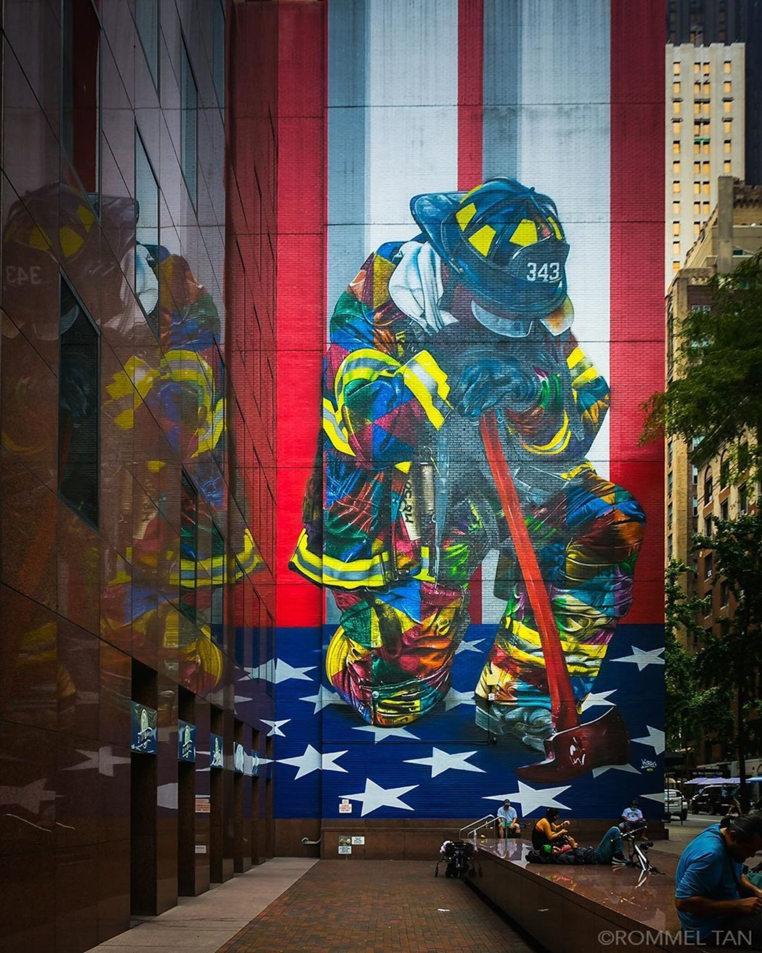 """The Braves of 9/11"", Eduardo Kobra, 2018, East 49th Street and 3rd Avenue, Manhattan"