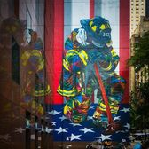 """The Braves of 9/11"", Eduardo Kobra, 2018, East 49th Street and 3rd Avenue, Manhattan"