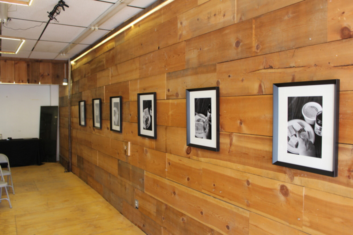 Serving as inspiration, photos her mother took of the sandwich making process hang on the wall that Olah faces all day.