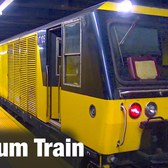 "⁴ᴷ NYC Subway ""VakTrak"" Vacuum Train passing Jay St - MetroTech"