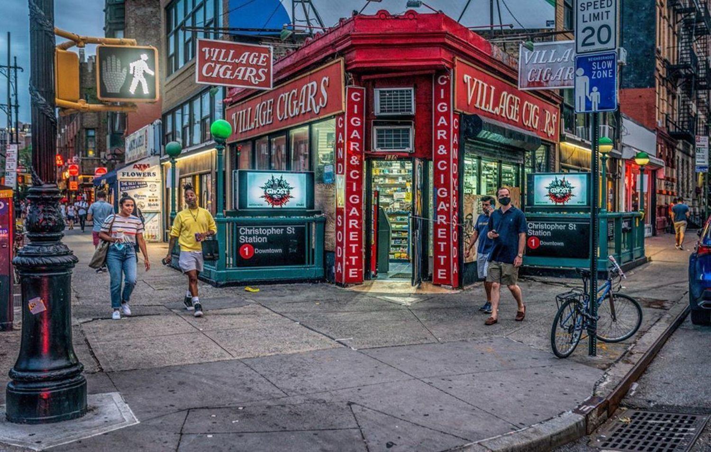 Village Cigars and Hess Triangle, Greenwich Village, Manhattan
