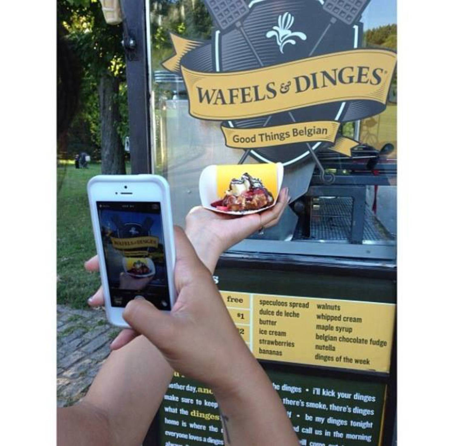 Free Waffles at Wafels & Dinges for International Waffle Day