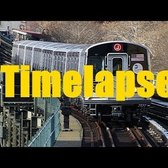 ⁴ᴷ Timelapse R179 J Train from Jamaica Center Parsons/Archer to Broad Street (Side Window View)