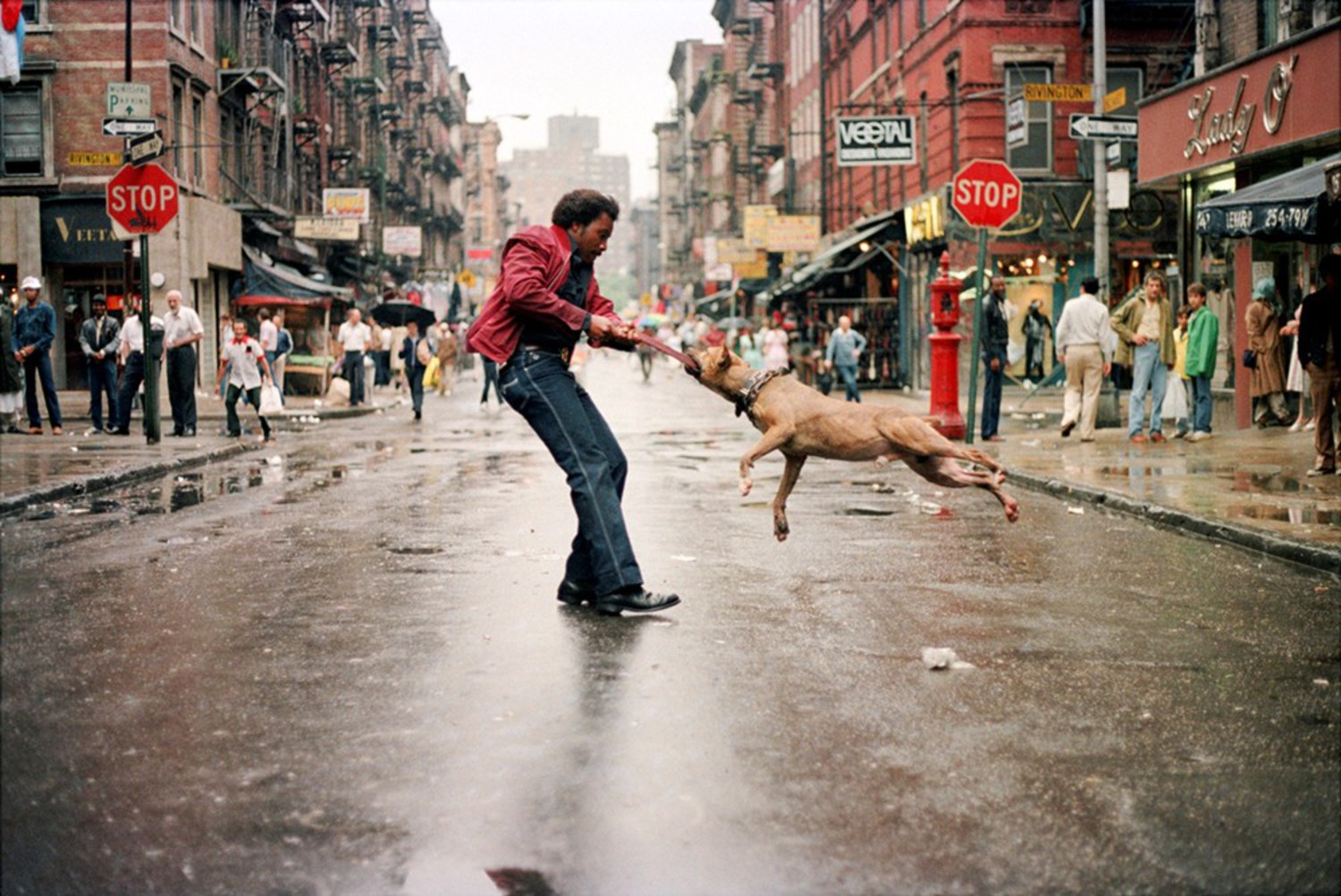 Man and Dog, The Lower East Side, NY 1980
