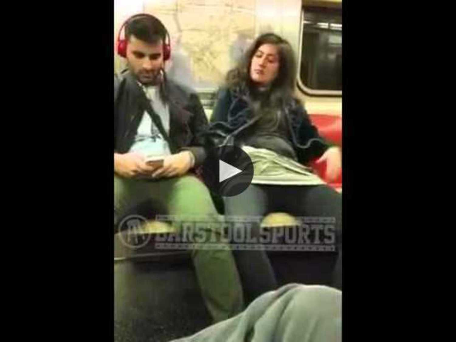 Woman Masturbating On Subway