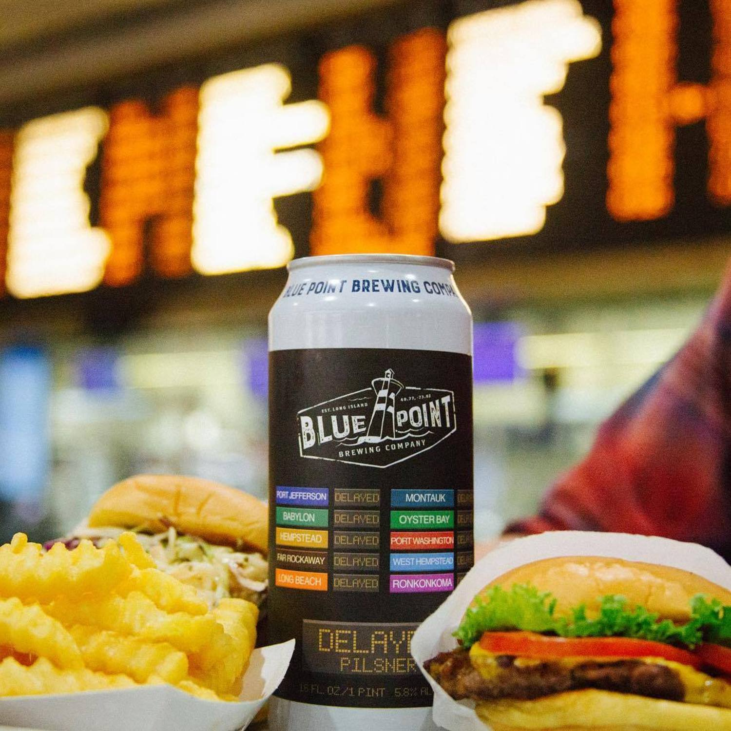 We brewed the ultimate Pilsner to help you through the #SummerofHell. Join us for the DELAYED release party w/@shakeshack in Penn Station, Monday, 8/14 4-8pm. Don't forget to share your commuting woes w/us using #DRINKTHEDELAY