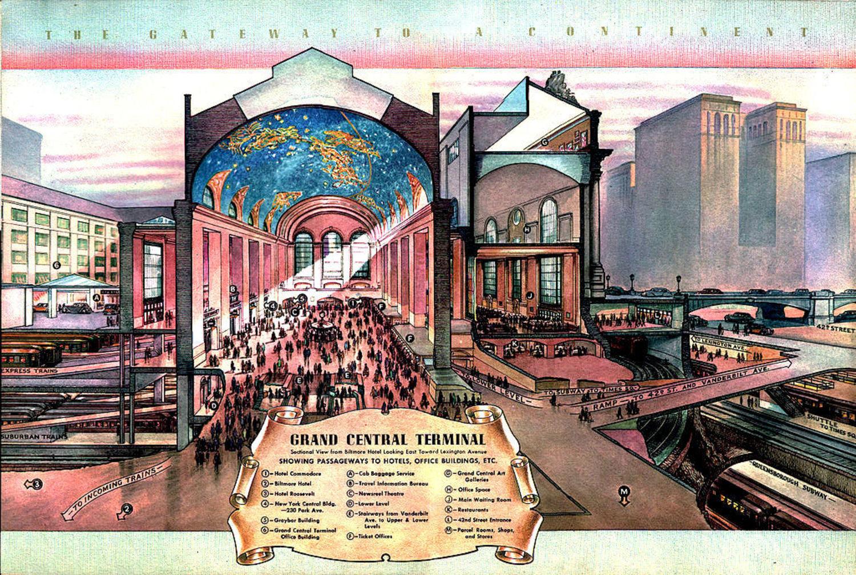 A peek inside Grand Central Terminal in 1939