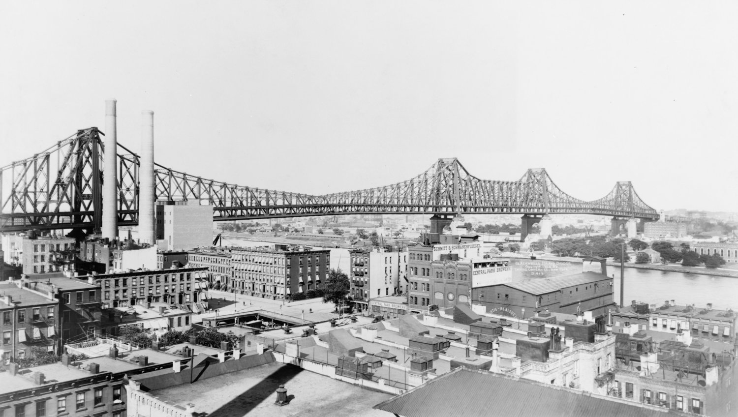 Queensboro Bridge in 1908